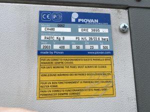 Serwis Chiller Piovan CH480