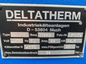 Naprawa chiller Deltatherm RKV10 ChillerSerwis